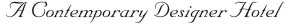 A Contemporary Designer Hotel